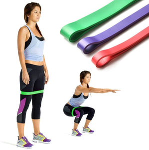 Fitness Resistance Bands Loop Set 3 Level Thick Heavy Workout Training  Athletic Power Rubber Bands