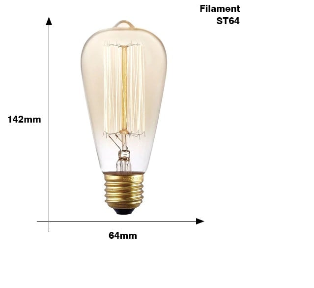 Retro Edison Light Bulb [E27,220V,40W]