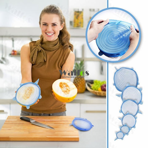 Image of Food Preserving Silicone Stretch Lids