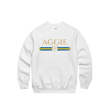 Load image into Gallery viewer, Aggie Strip Crew Neck