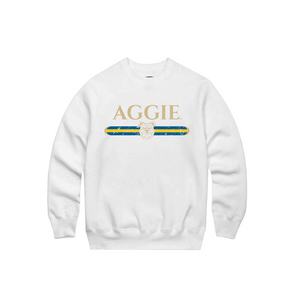 Aggie Strip Crew Neck