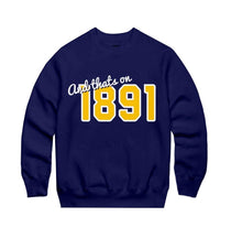 Load image into Gallery viewer, navy cotton crewneck