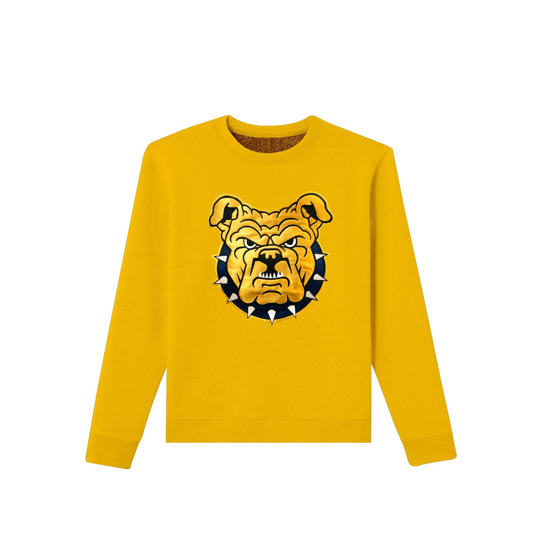 gold cotton crewneck