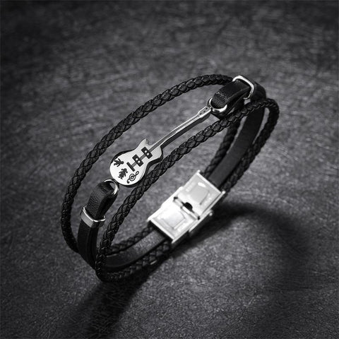 Guitar Leather Bracelet - eDealMentor