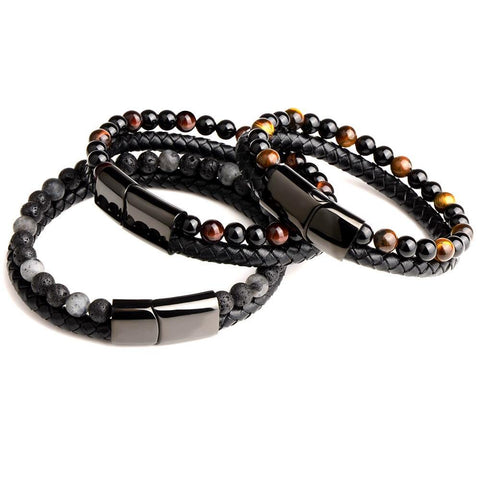 Natural Stone Leather Bracelet - eDealMentor