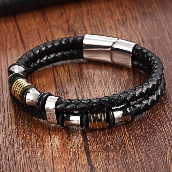 Leather Bracelet Double Layer - eDealMentor