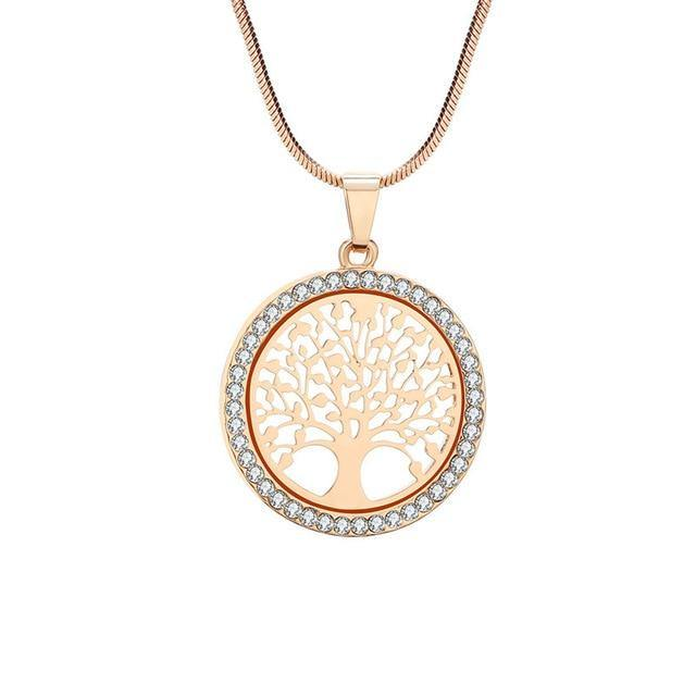 Round Pendant Necklace - Tree of Life - eDealMentor