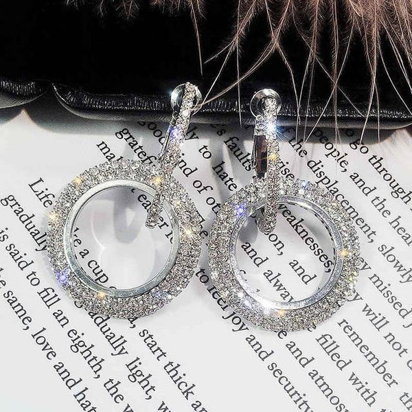 Rhinestone Drop Earrings For Women - eDealMentor