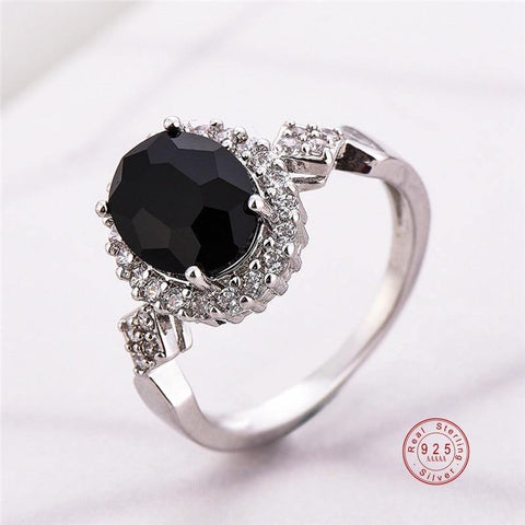 Women Crystal Halo Ring - eDealMentor
