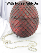 Load image into Gallery viewer, Dragon Egg Custom 3D Printed cosplay costume prop eggs larp replica art scales purse mother of wristlet dragons hand painted bag holder