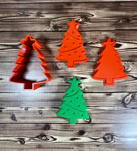 Flat Christmas Tree Mold Press