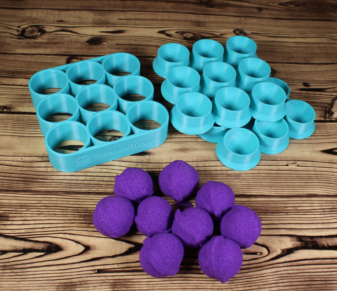 Custom Count Gumball or Multi Ball Bath Bomb Mold Press