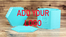 Load image into Gallery viewer, Add Your Logo Hexagon Mold Press