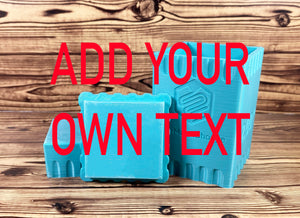 Add Your Own Text Square Mold Press