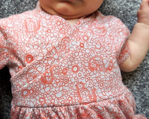 Flo Dress and Riley Leggings, printed sewing pattern for babies, 0 - 24 months