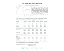 Load image into Gallery viewer, Flo Dress and Riley Leggings, digital sewing pattern for babies and toddlers, 0 - 24 months