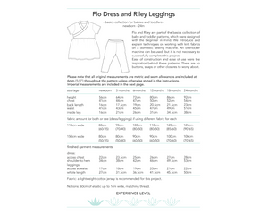 Flo Dress and Riley Leggings, digital sewing pattern for babies and toddlers by Dhurata Davies, 0 - 24 months