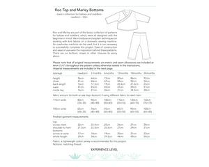 Roo Top and Marley Bottoms, digital sewing pattern for babies and toddlers, 0 - 24 month old