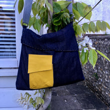 Load image into Gallery viewer, The Almost Square Bag, digital sewing pattern for an adult messenger style bag