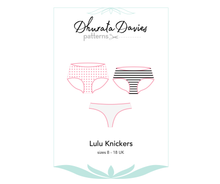 Load image into Gallery viewer, Lulu Knickers, digital sewing pattern for women's underwear, size 8-18UK