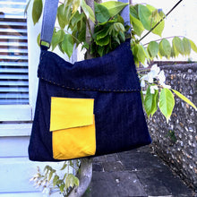 Load image into Gallery viewer, The Almost Square Bag, printed sewing pattern for an adult messenger style bag