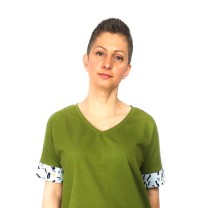 Cora Tee, printed sewing pattern, size 6-20UK, by Dhurata Davies