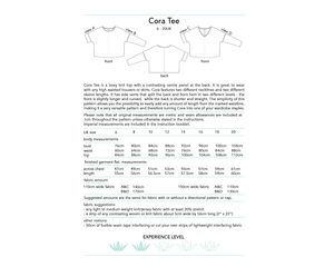 Cora Tee, digital sewing pattern, size 6-20UK, by Dhurata Davies