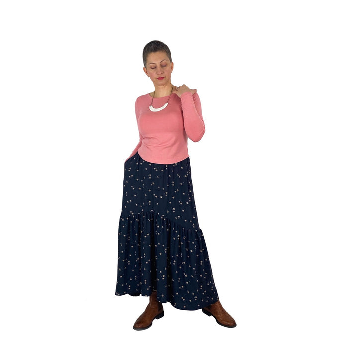 Olive Skirt sewing pattern by Dhurata Davies, printed pattern, sizes 4-24UK