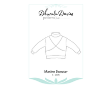 Load image into Gallery viewer, Maxine Sweater, digital sewing pattern, size 6-20UK