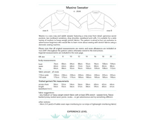 Load image into Gallery viewer, Maxine Sweater, printed sewing pattern, size 6-20UK