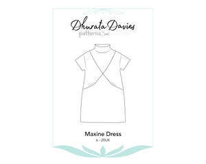 Maxine Dress, digital sewing pattern, size 6-20UK