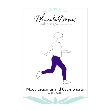 Moov Leggings and Cycle Shorts, digital sewing pattern for kids, 3y-12y