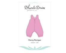 Load image into Gallery viewer, Penny Romper, digital sewing pattern for babies and toddlers, 0 - 24 months