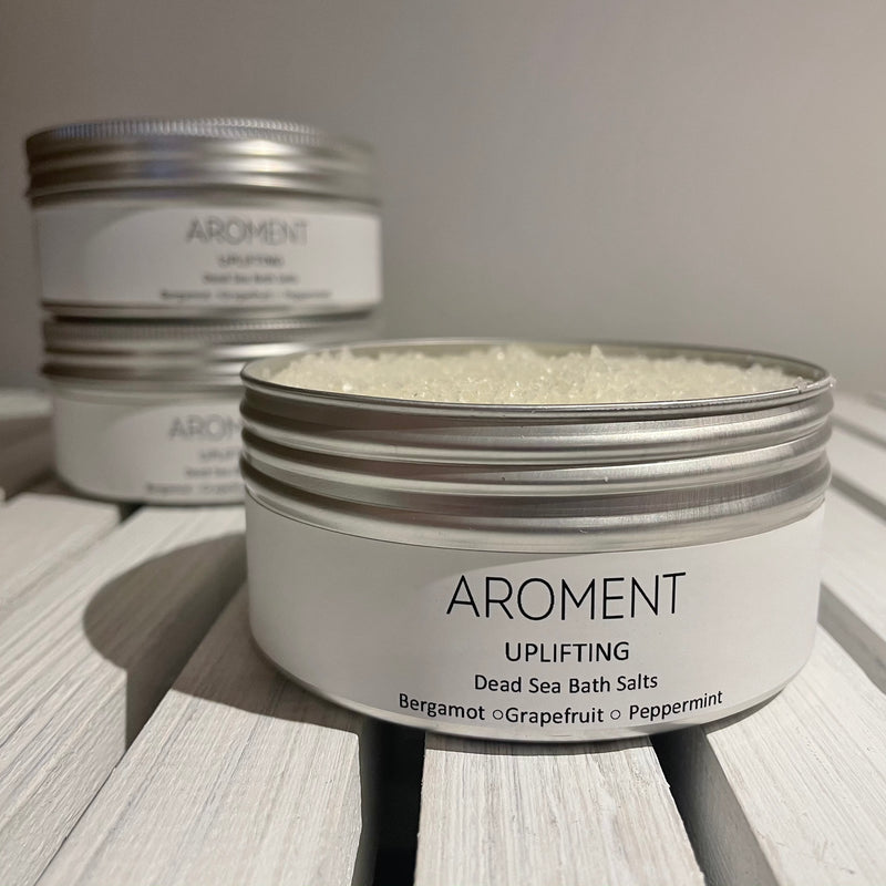 Uplifting • Bergamot, Grapefruit & Peppermint Pure Essential Oil Bath Salts - Aroment