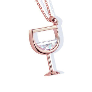 Wine Cup Charm Necklace