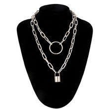 Load image into Gallery viewer, Padlock Chaib Necklace
