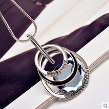 Load image into Gallery viewer, Vintage Crystal Glass Pendant Necklaces