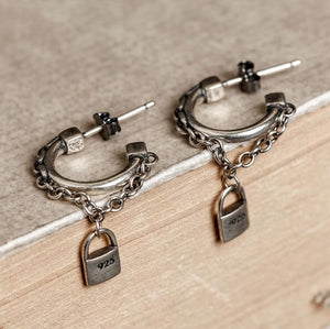 Antique Charms Earrings - 925 Sterling