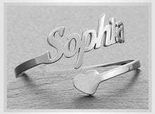 Load image into Gallery viewer, Personalised Letter Name Ring - Adjustable