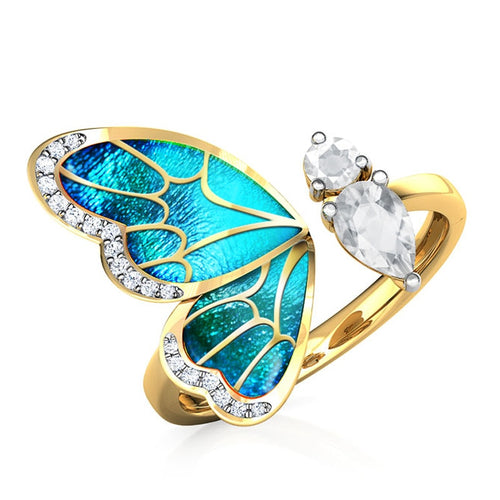 Bow Wing Crystal - Adjustable Ring