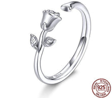 Load image into Gallery viewer, 3D Rose Open Adjustable Finger Rings
