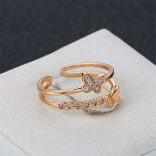 Load image into Gallery viewer, Romantic Butterfly Ring