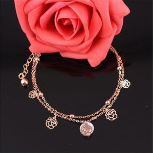 Rose Ankle Bracelet