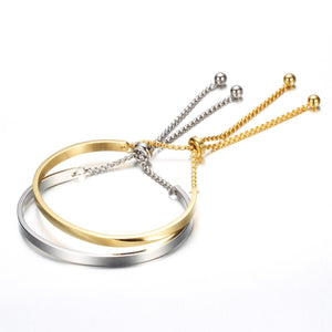 Adjustable Stainless Steel  Bangle