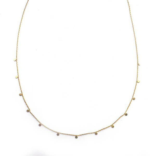 "Adorn 512 14K Gold-Filled Floating Circles 15"" Necklace w/2"" Extension"