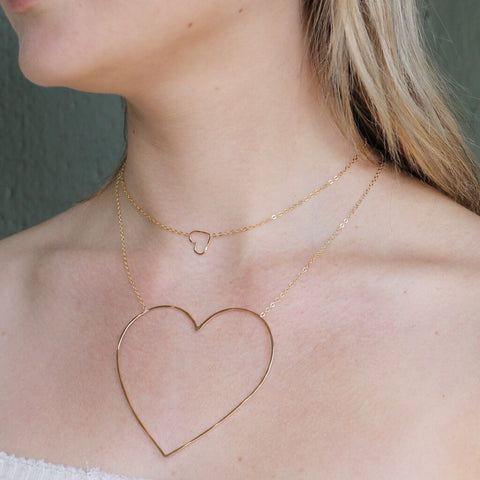 Collective Hearts Heart of Gold 14K Gold-Filled Necklace