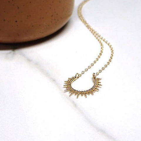 "Adorn 512 14K Gold-Filled & Gold Plated Sunburst 20"" Necklace"