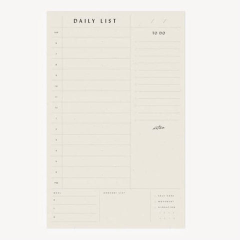 Wilde House Paper Daily List Pad