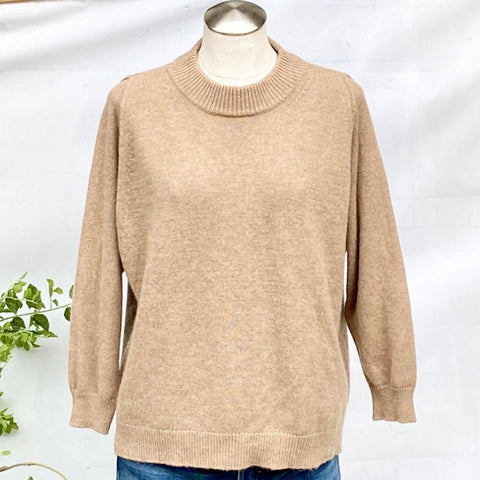 J. Crew Collection Cashmere Mock Neck Pullover Sweater, Size M