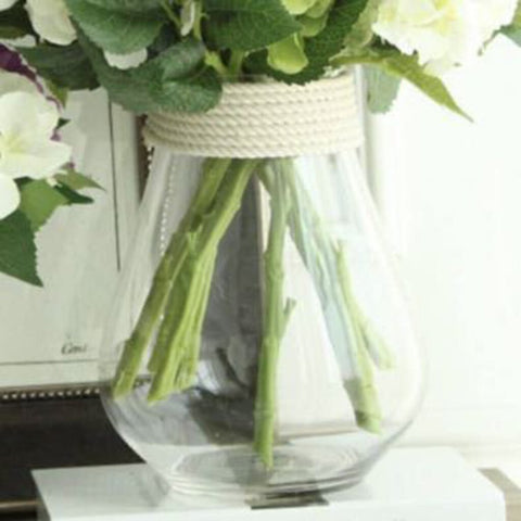 Noah Decor Hemp Rope Large Glass Vase